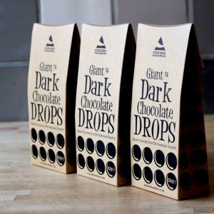 Giant Organic Dark (74%) Chocolate Drops (3)