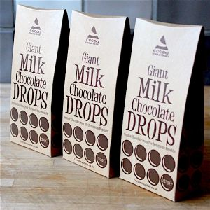 Giant Organic Milk Chocolate Drops