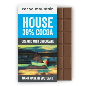 2 Handmade Organic Milk Chocolate Bars