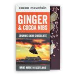 2 Dark Chocolate Bars with Ginger and Crunchy Cocoa Nibs