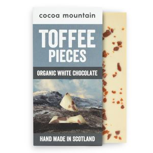 2 White Chocolate Bars with Toffee Pieces